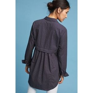 Anthropologie Maeve Aled Short Tunic XS Navy Butt